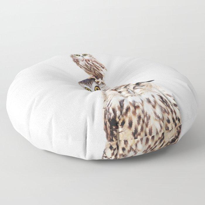 Stacked Owls Floor Pillow