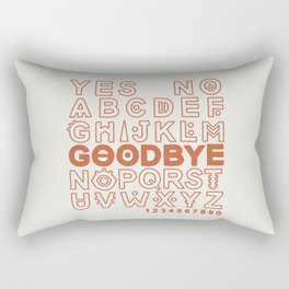 Plastic Bag Ouija Board Rectangular Pillow