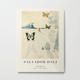 Poster-Salvador Dali-Butterflies. Metal Print