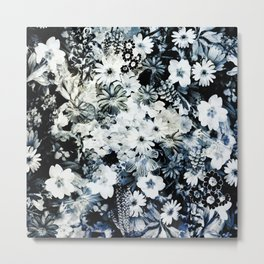 Antique Floral Chintz Metal Print