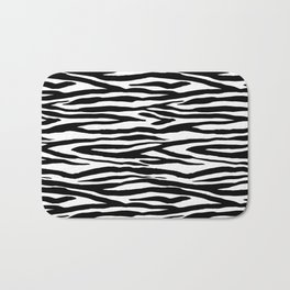 Zebra StripesPattern Black And White Bath Mat
