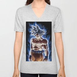 Ultra blue fighter Unisex V-Neck