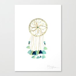 Dream Catcher - Blue Canvas Print