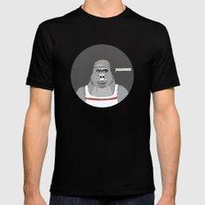 Gorillas love exercise Mens Fitted Tee Black MEDIUM