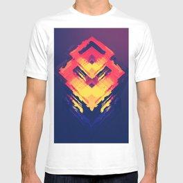 Mystic Magic Neon Color Right Angle Digital Art Pattern UHD T-shirt
