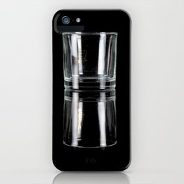 glass on black iPhone Case