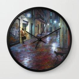 Jazz player paintings Wall Clock