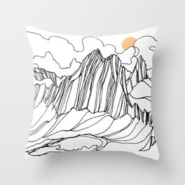 Snowpatch and the Col :: Bugaboos Throw Pillow