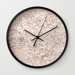 Blush Glitter Dream #4 #shiny #decor #art #society6 Wall Clock