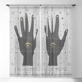 La Justice or The Justice Tarot Sheer Curtain