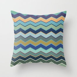 Colorful Wave II Throw Pillow