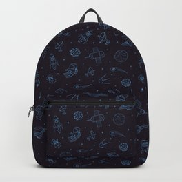 Blue Space Pattern Backpack