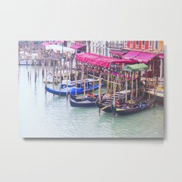 Gondola Row Metal Print