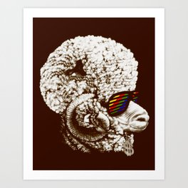 Funky sheep Art Print