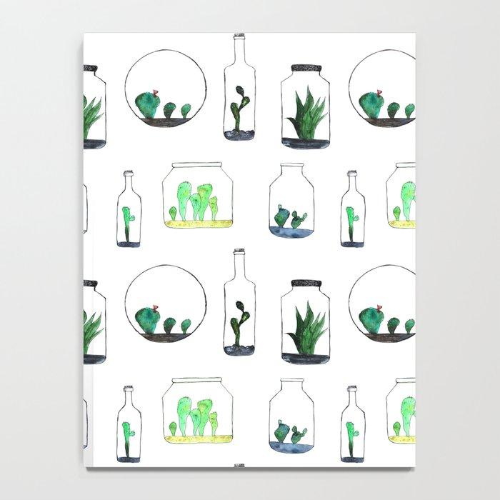 Bottled cactuses Notebook
