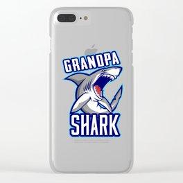 Grandpa Shark Clear iPhone Case
