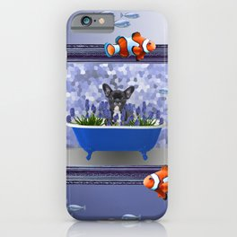 French Bulldog hyacinths Bathtub - Clownfish  iPhone Case