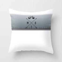 MTB Line Throw Pillow