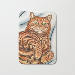 Ginger Cat Bath Mat