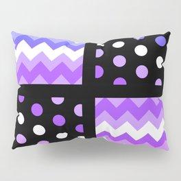 Multi-Color Gradient Chervon/Polkdot Pillow 1 Pillow Sham