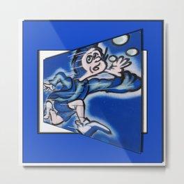 blue boy runnin' (square) Metal Print