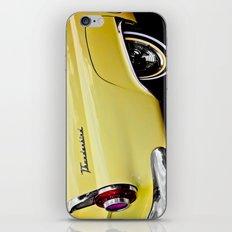 Yellow Vintage Ford Thunderbird Car iPhone & iPod Skin
