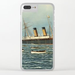 Vintage Illustration of The SS Oregon Sinking (1902) Clear iPhone Case