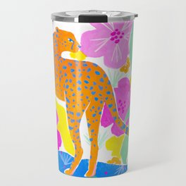 Jaguar in Tropical Garden Travel Mug