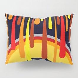 Drops & Rainbow - red - yellow - black Pillow Sham