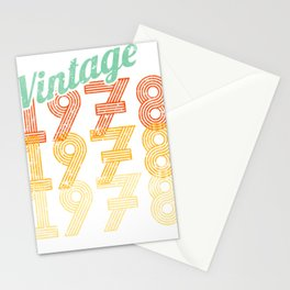 40th Birthday Vintage 1978 Classic Stationery Cards