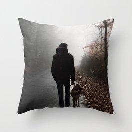 Retrograde Peace Throw Pillow