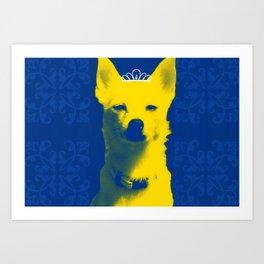 Fox Princess. Art Print
