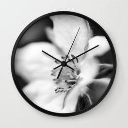 In black and white Wall Clock