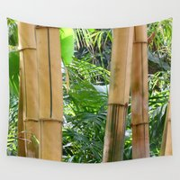 bamboo Wall Tapestries featuring Bamboo by WonderfulDreamPicture