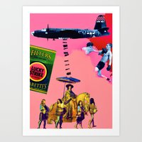 entourage Art Prints featuring Filtered Cigarettes by AF Knott