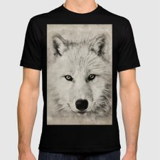 WOLF LARGE Mens Fitted Tee Black