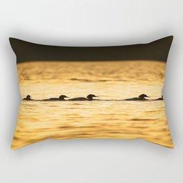 Birds Swimming At Sunset Reflection On The Lake #decor #society6 Rectangular Pillow
