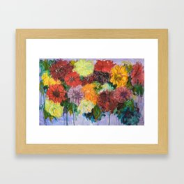 Zinnias Framed Art Print