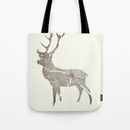 Wood Grain Stag Tote Bag