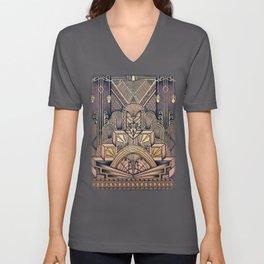 Art Deco Design Unisex V-Neck