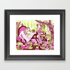 Alice at the Tea Party Framed Art Print
