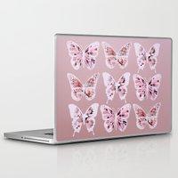 butterflies Laptop & iPad Skins featuring Butterflies by Vickn