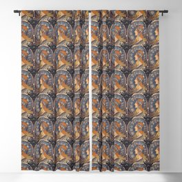 "Alfons mucha ,"" Zodiac "" Blackout Curtain"