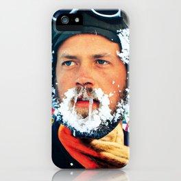 Hipster beard Xmas iPhone Case