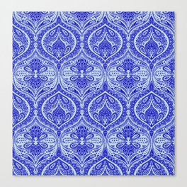 Simple Ogee Blue Canvas Print