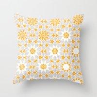 pivot Throw Pillows featuring Pivot Star Pattern  by Pivot Interiors