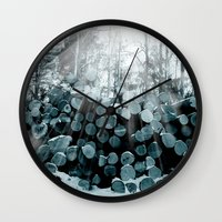 wood Wall Clocks featuring wood  by mark ashkenazi