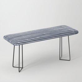 Abstract Stripes Pattern, Indigo, Navy Blue Bench