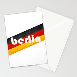 Berlin, with flag colors Stationery Cards