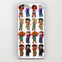 percy jackson iPhone & iPod Skins featuring Chibis V2  by chubunu